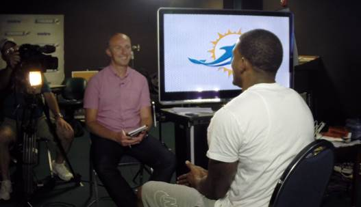 Behind the scenes: Neil's Sky News interview with Mike Wallace in Miami
